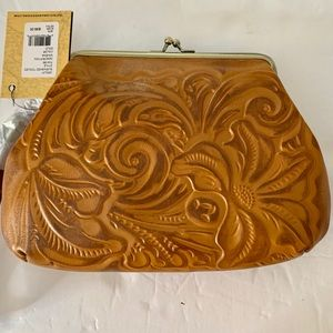 Patricia Nash Tooled Leather Wristlet New w/Tags
